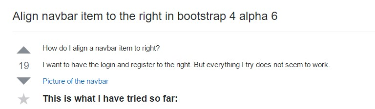 Regulate navbar  thing to the right in Bootstrap 4 alpha 6