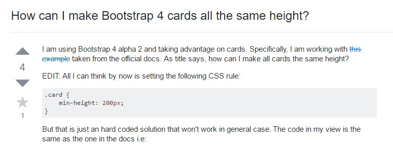 Insights on  just how can we  build Bootstrap 4 cards  all the same tallness?