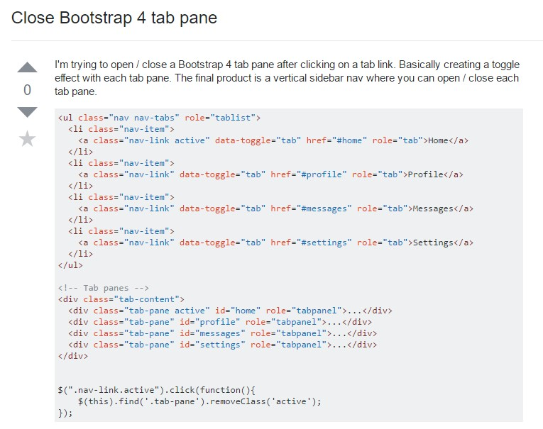 The best way to  shut off Bootstrap 4 tab pane