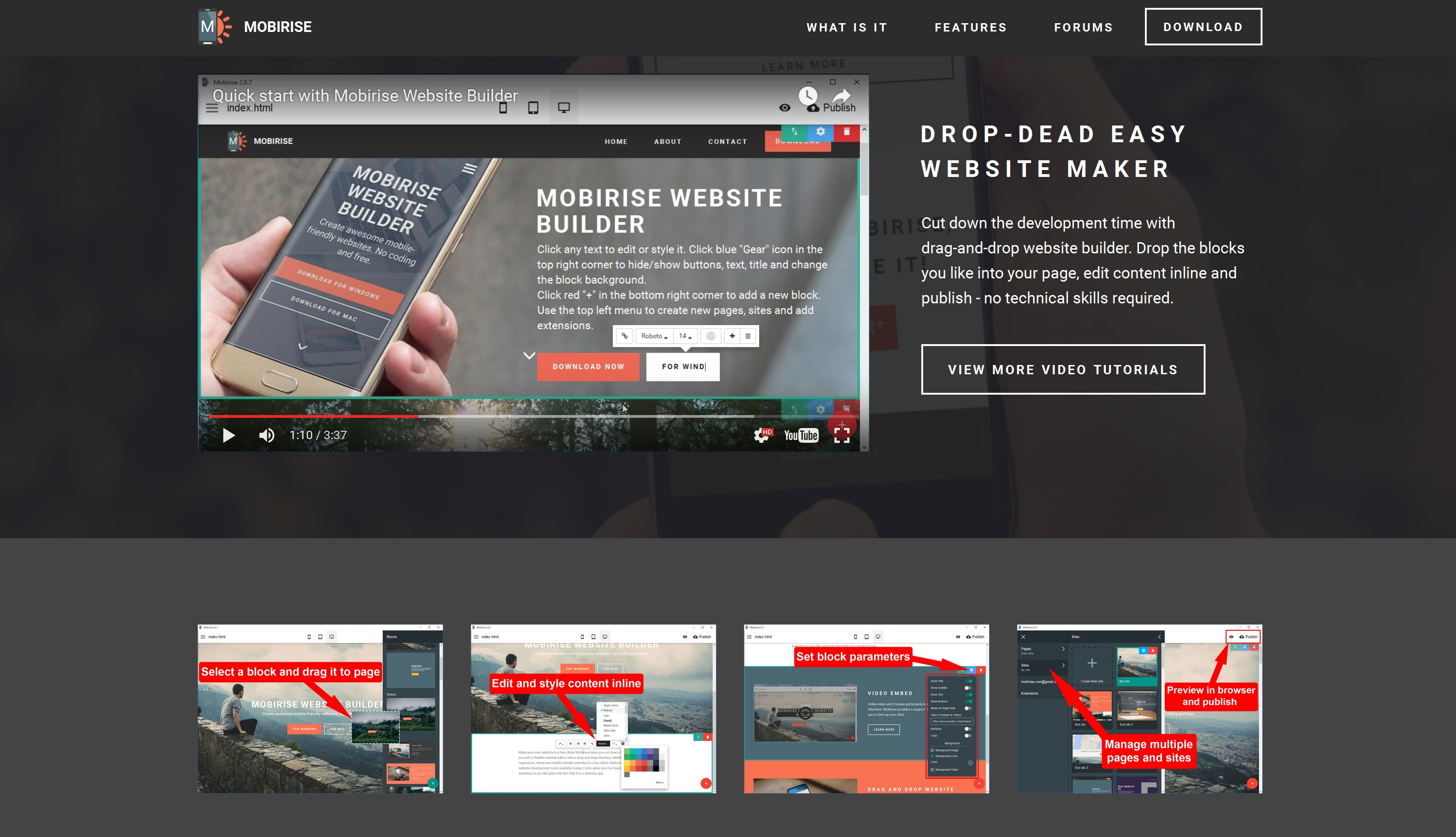 Drag and Drop Mobile Website Maker Review