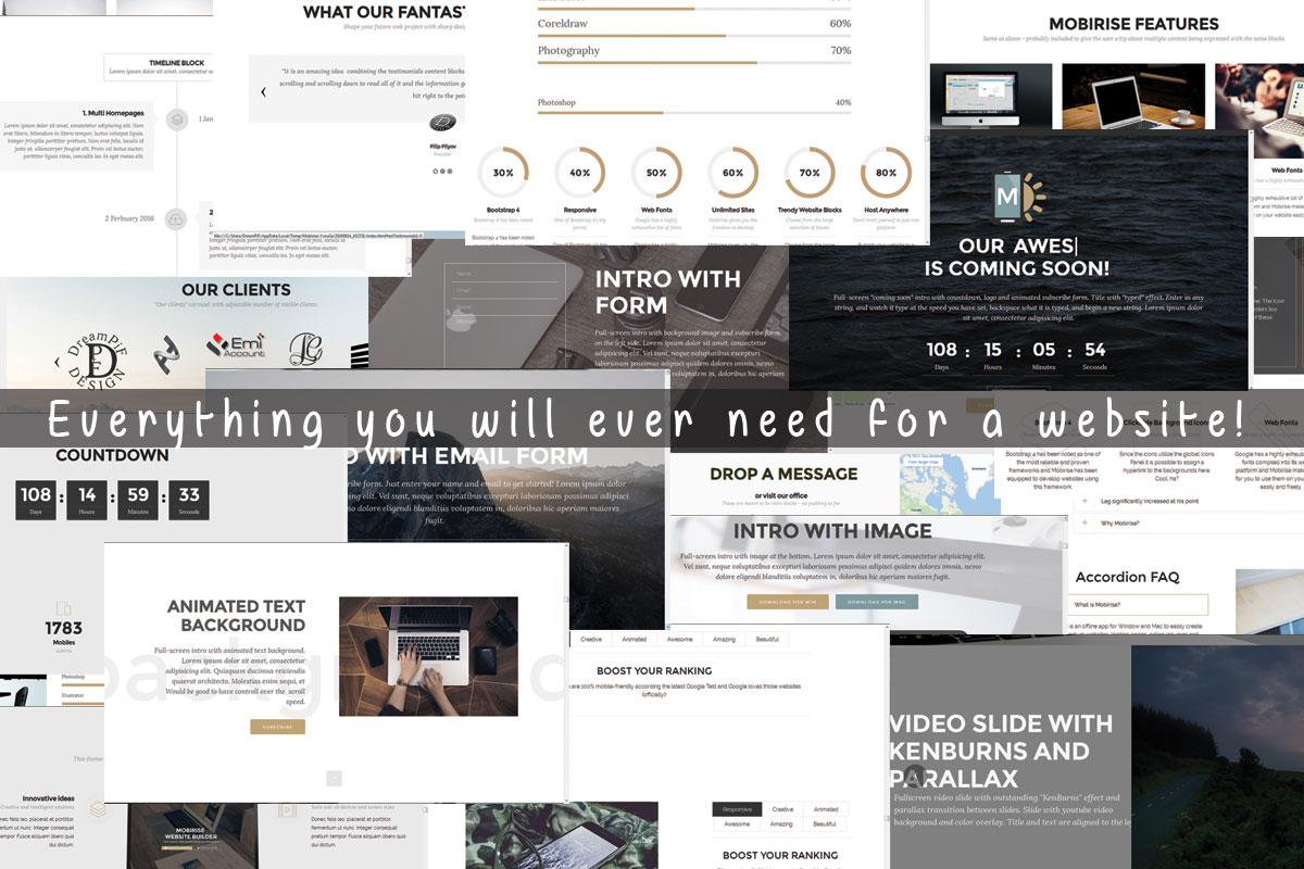 HTML Responsive Web Builder Software