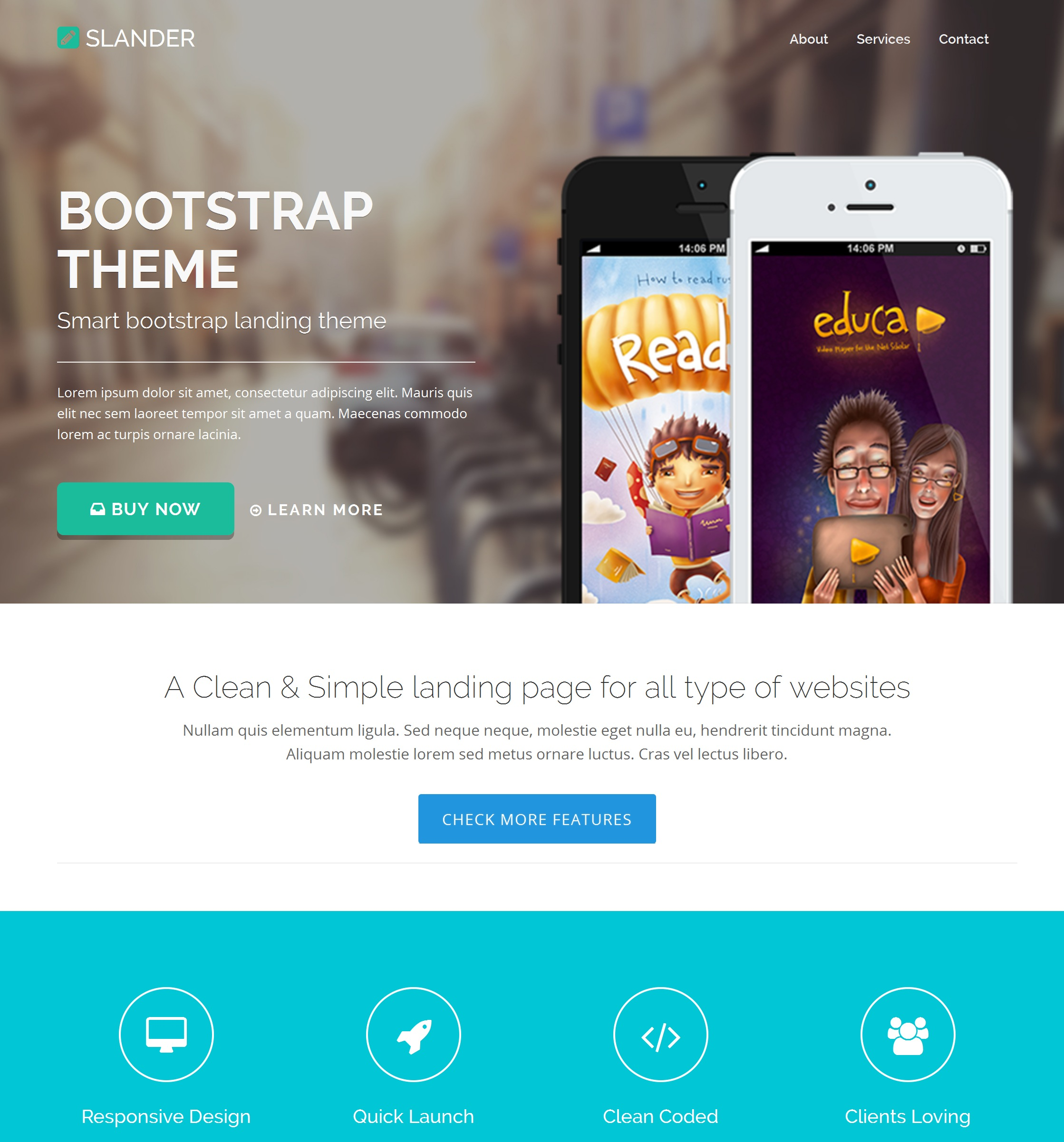 HTML Bootstrap Business Theme