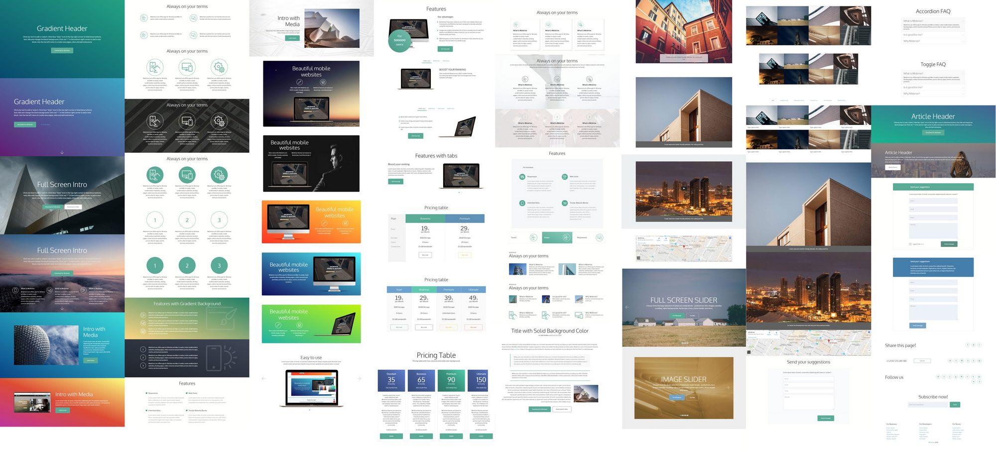 easy free website builder