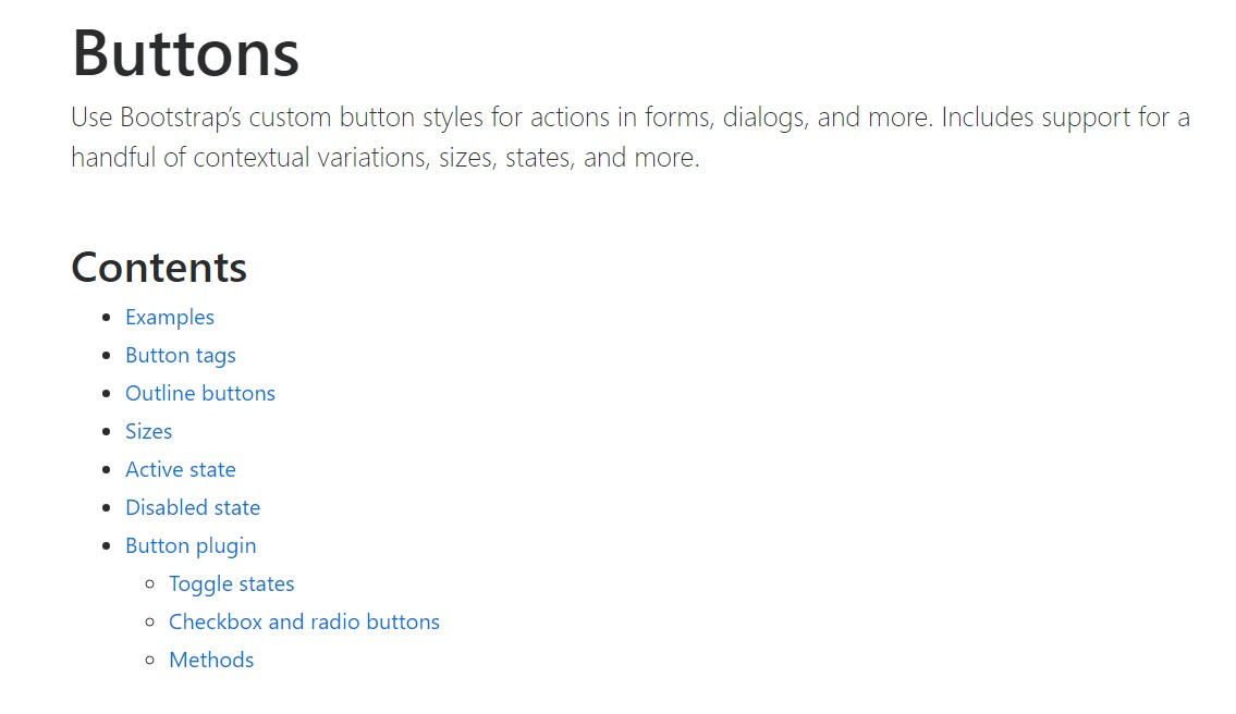 Bootstrap buttons  approved  documents
