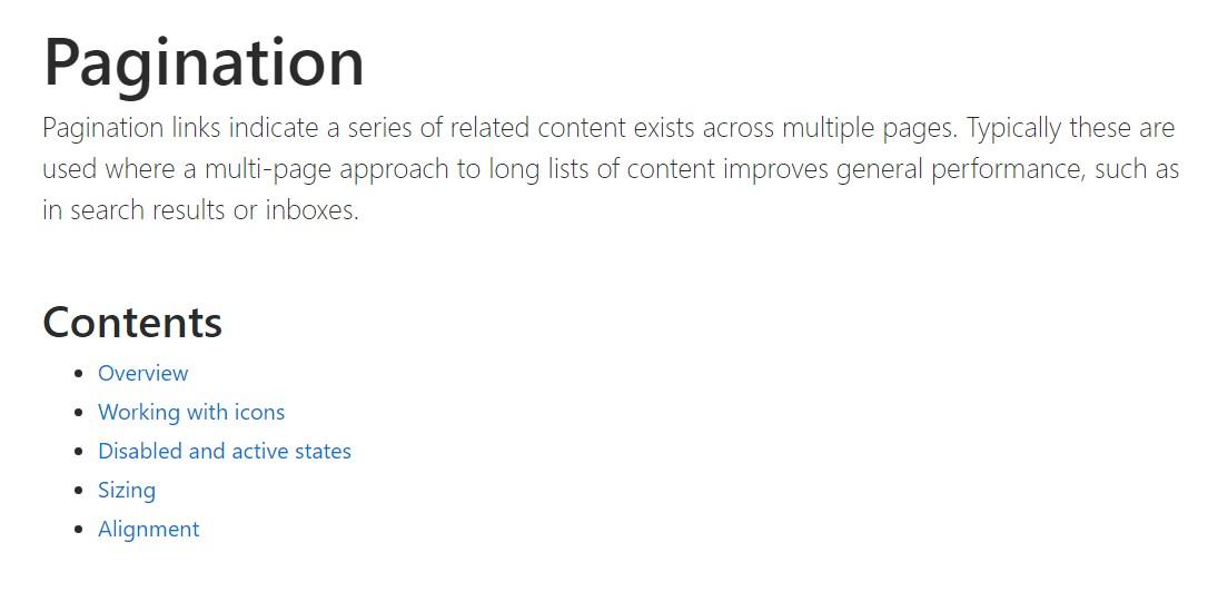 Bootstrap pagination  main documentation