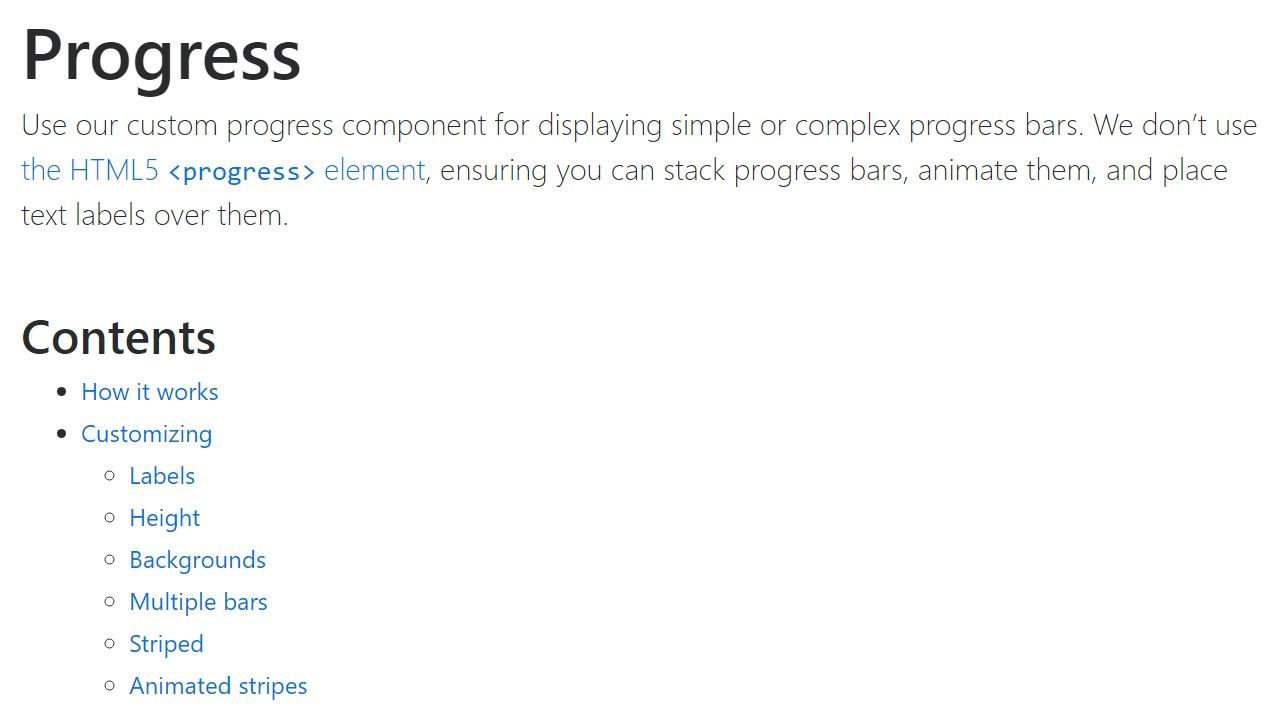Bootstrap progress bar  authoritative  records