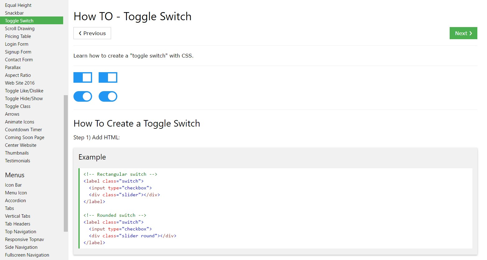 Effective ways to  set up Toggle Switch
