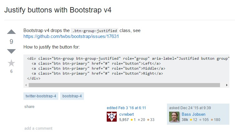 Support buttons  by Bootstrap v4