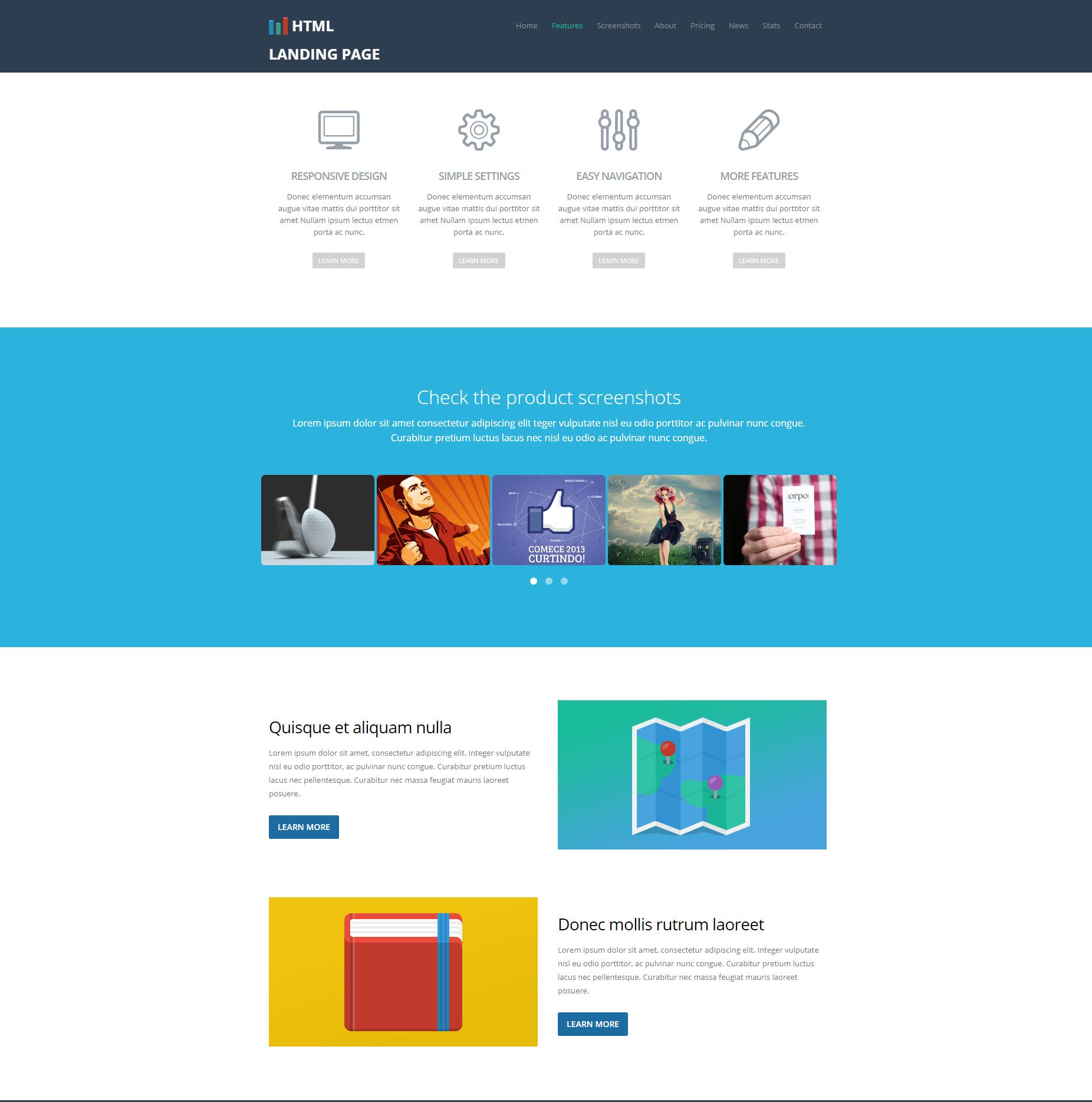 HTML Bootstrap Ezyland Themes