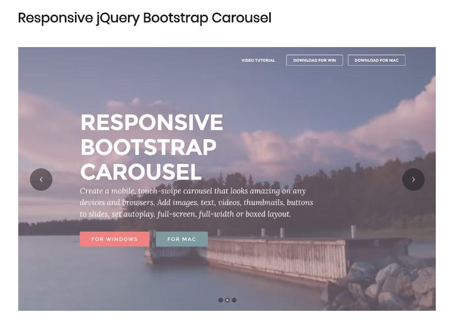 Responsive Bootstrap Carousel