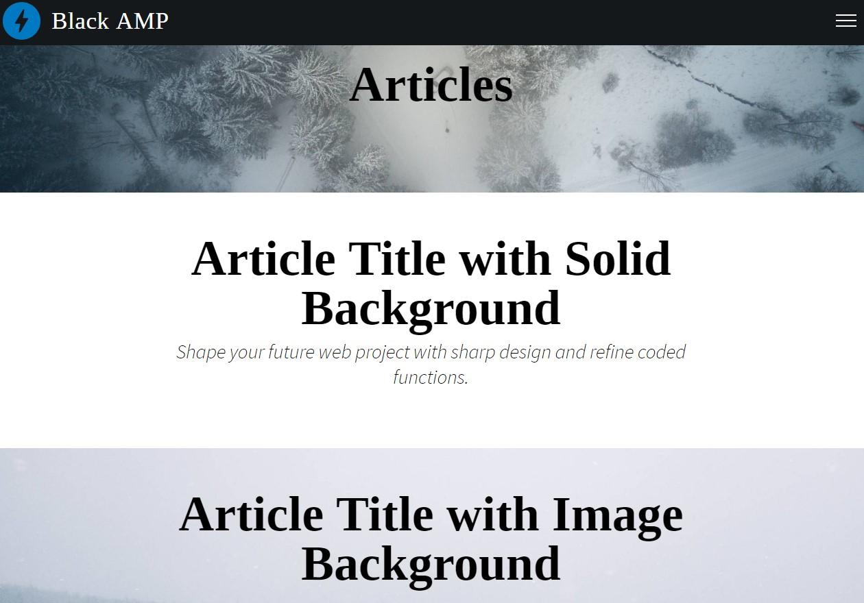AMP HTML