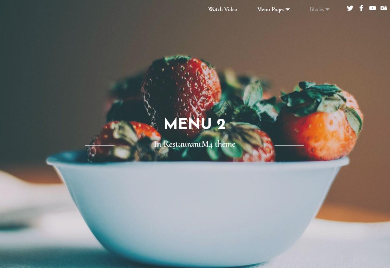HTML Restaurant